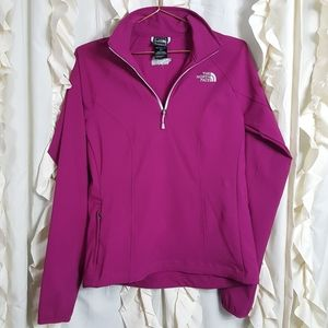 The North Face Magenta half zip pullover APEX